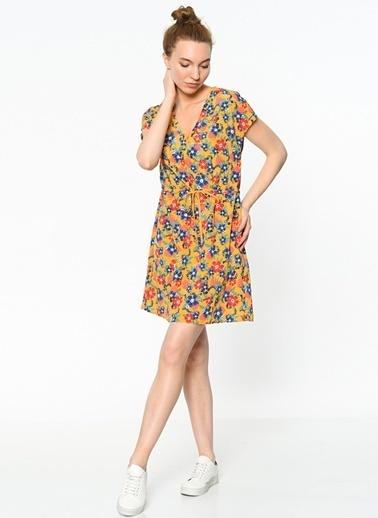 Çiçek Desenli V Yaka Elbise-Tommy Hilfiger